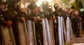 Barrera de policias