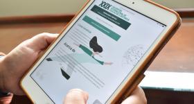 Convocatoria de Ponencias vista desde un iPad